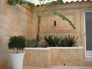 Terraza con Piedra Envejecida - Balaustre Sol