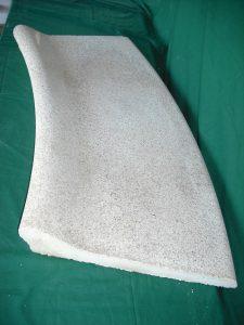 Coronación Piscinas: Curva romana pulida 102x75x46 cm. - Balaustre Sol