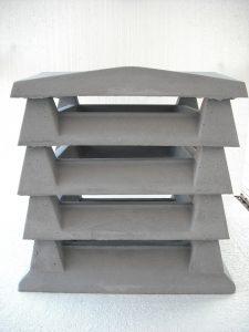 Aspirador estático color gris: Base + 3 Intermedios + Remate 50 altura x 45 ancho cm. / 30x30 de aspiración) - Blaustre Sol
