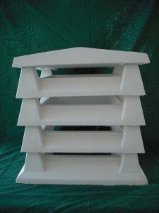 Aspirador estático color blanco: Base + 3 Intermedios + Remate 50 altura x 45 ancho cm. / 30x30 de aspiración) - Blaustre Sol