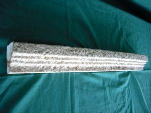 Moldura remate envejecida Época 15x15x7 cm. - Balaustre Sol