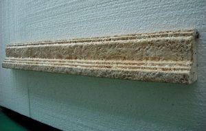 Moldura remate envejecida Monasterio 100x12x5,5 cm- Balaustre Sol