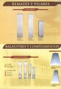 Remates y Pilares - Balaustre Sol